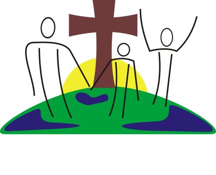 Logo Christelijke Gereformeerde Kerk Winschoten witte tekst