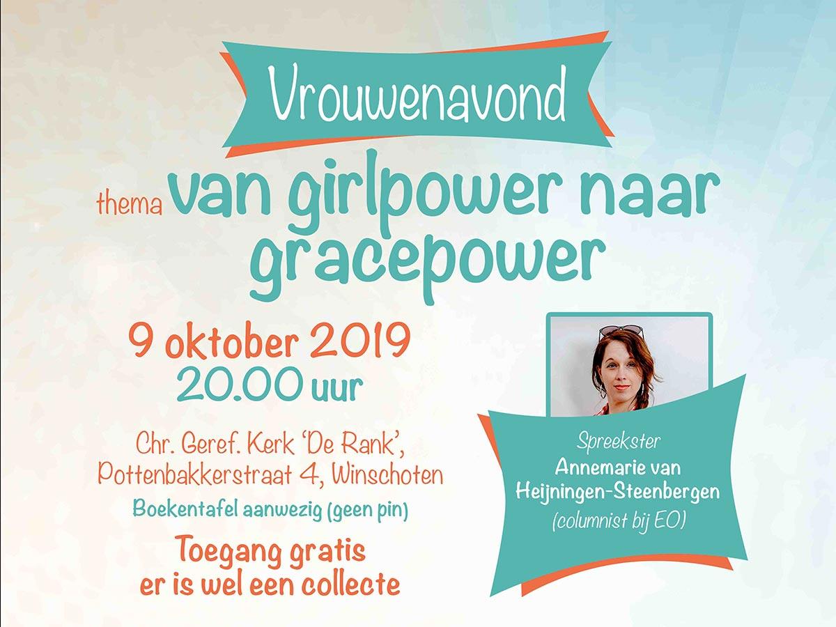Vrouwenavond CGK Winschoten Annemarie van Heijningen